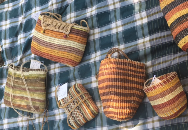 Baskets from Gapuwiyak Culture and Arts Aboriginal Corporation